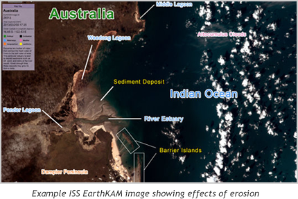 Annotated image of the Australian coast
