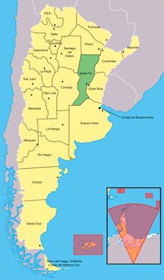 Sally Ride EarthKAM Santa Fe Argentina - World map parana river
