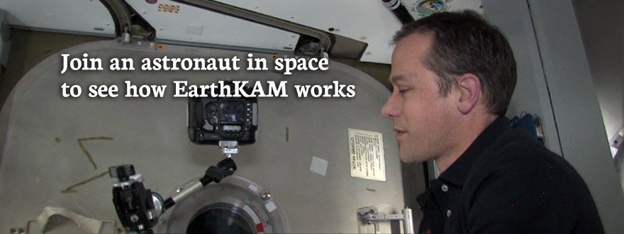 Slide: Watch how astronauts manage the EarthKAM cameras abroad the International Space Station